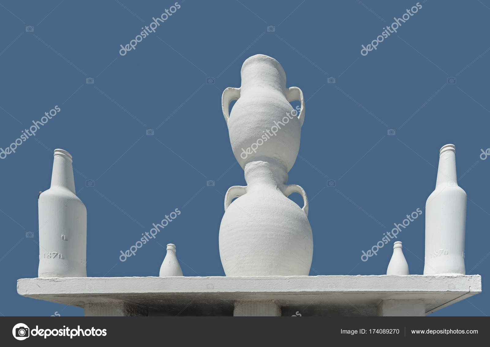 Ongewone dak decoratie van lefkes village paros griekenland