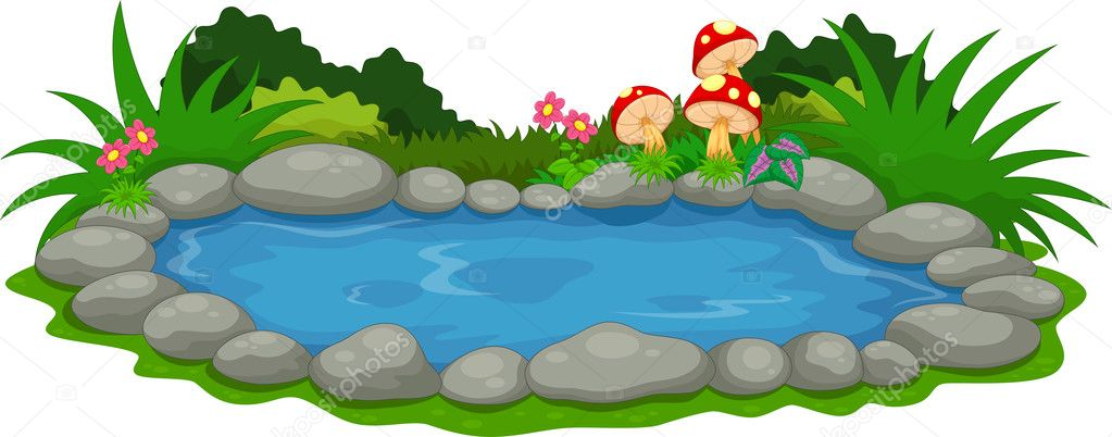 Animado dibujo de lago dibujos animados de un peque o for Como se hace un lago artificial