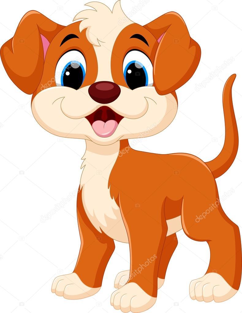 Cute Dog Cartoon Stock Vector C Irwanjos2 127386120