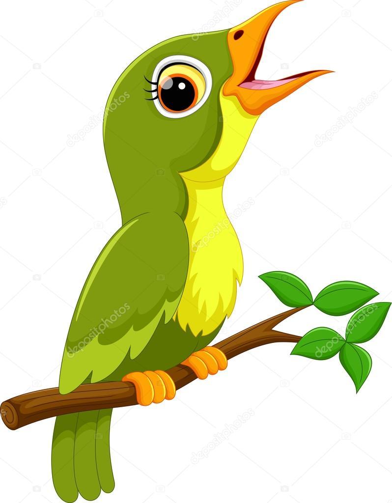 dibujos animados lindo p u00e1jaro verde cantando vector de cartoon kiwi bird clipart cartoon bird clipart black and white