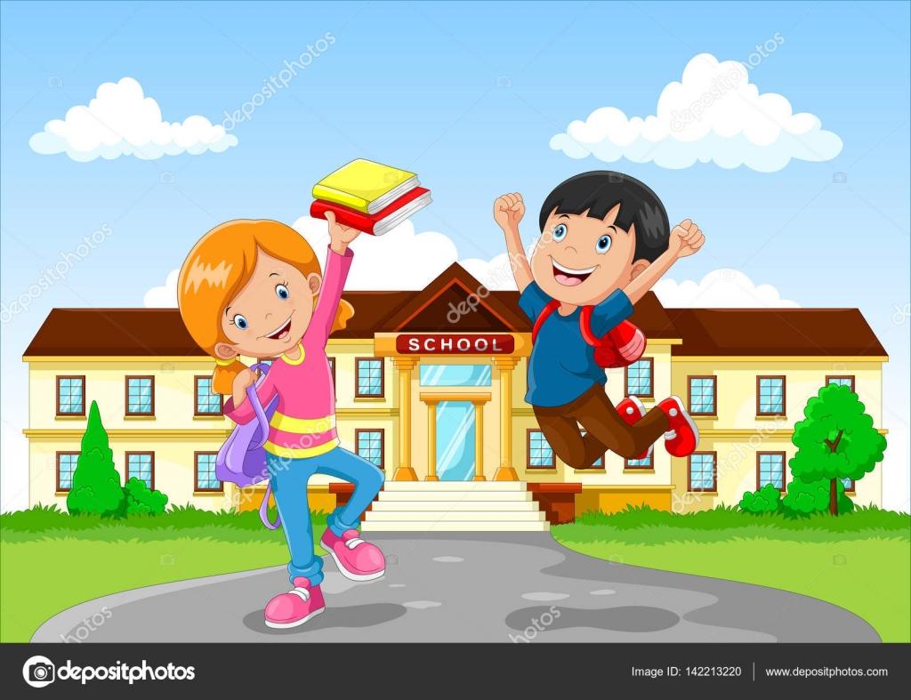 Lindo Niño Y Niña Con Mochila Pequeña