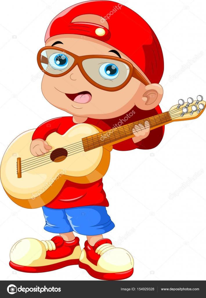 Illustrazione di vettore di piccolo bambino che indossa un cappello rosso e  occhiali da sole che gioca una chitarra — Vettoriali di ... 03a98386f0f8
