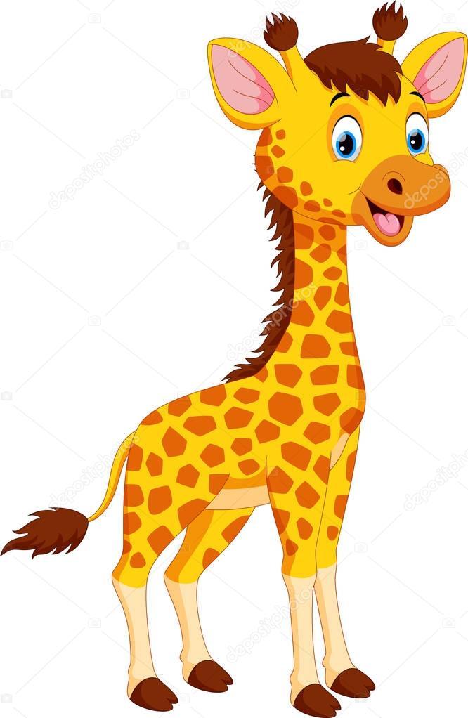 Cute giraffe cartoon — Stock Vector © irwanjos2 #172230992