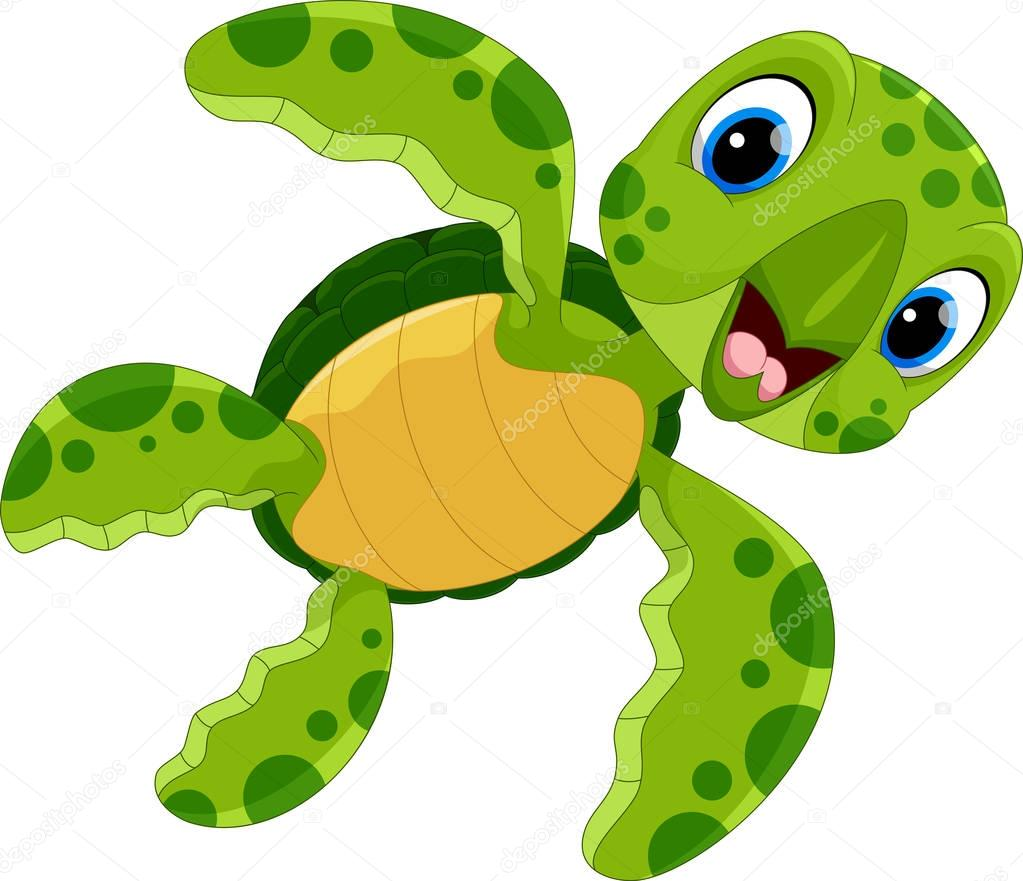 Pictures: cute turtle | Vector Illustration Cute Turtle ...