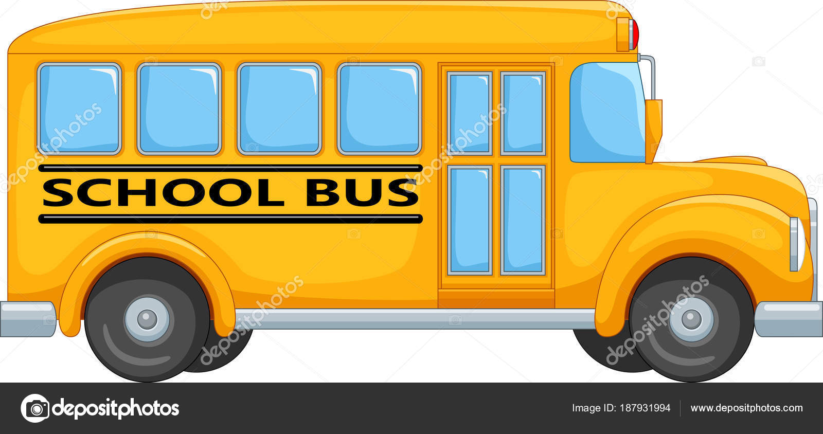 how to draw a school bus cartoon