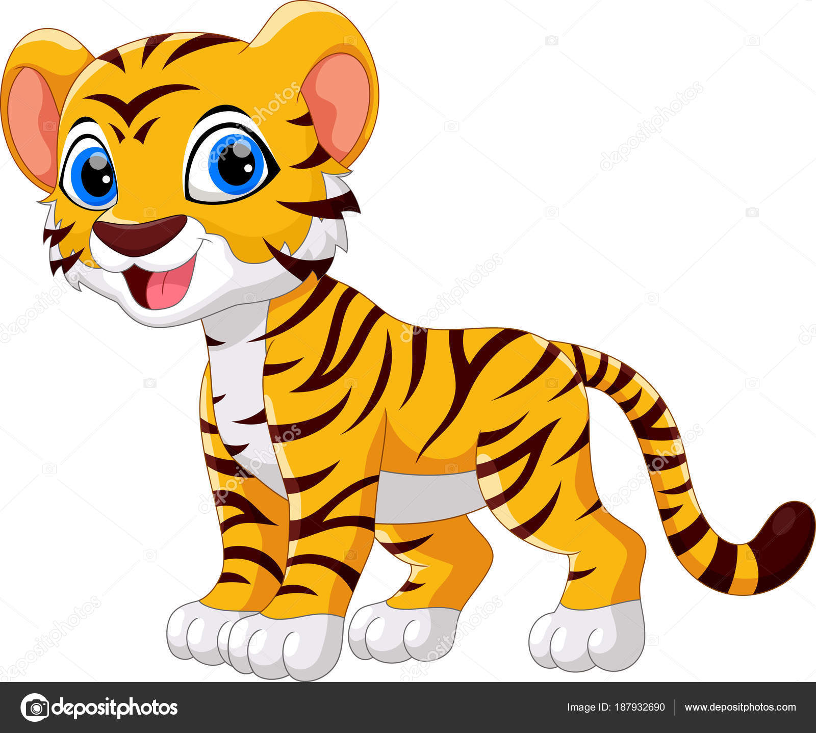Dibujos Dibujo Tigre Lindo Tigre Dibujos Animados
