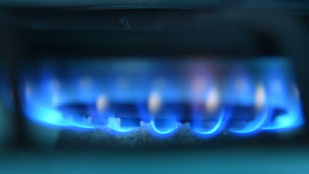 Blaues Feuer von Gasherd