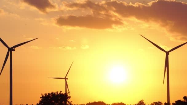 Ansichten über Windparks in Thailand Filmmaterial 4k