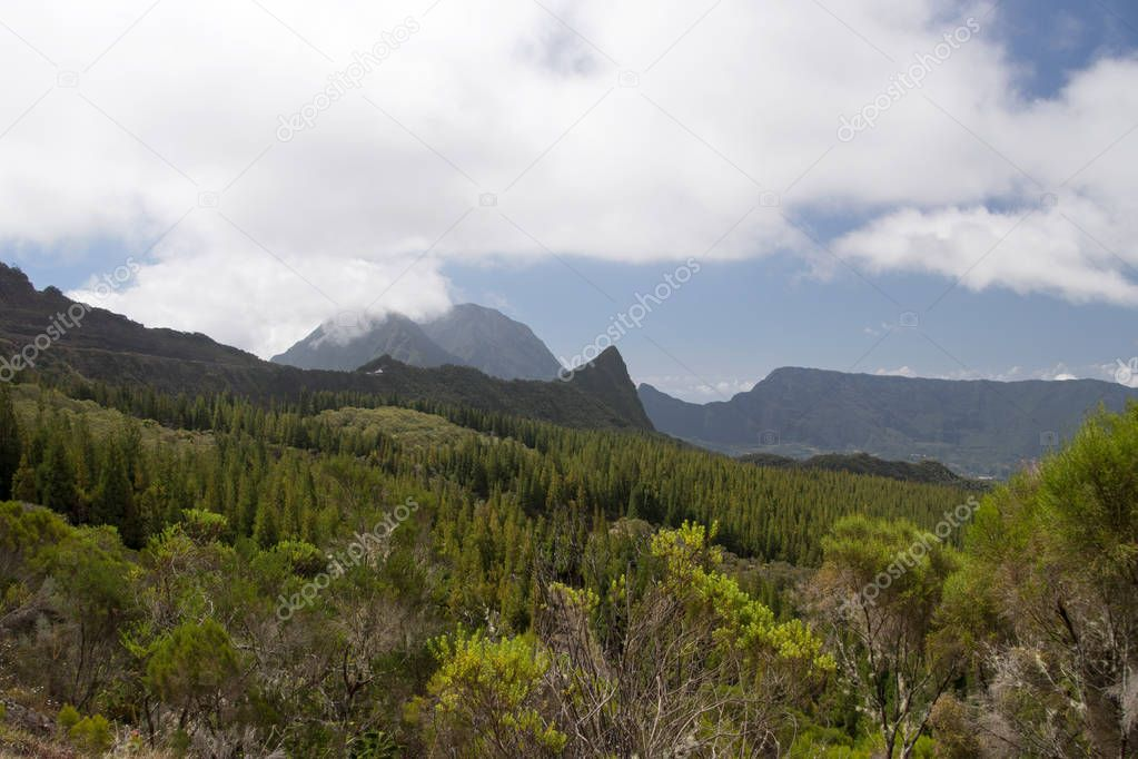 Mountains in Reunion Island National Park
