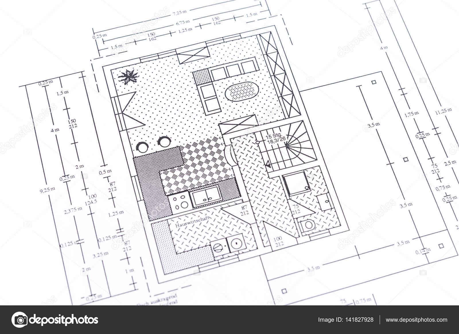 Architekten Entwurf Fur Den Bau Eines Neuen Hauses Stockfoto