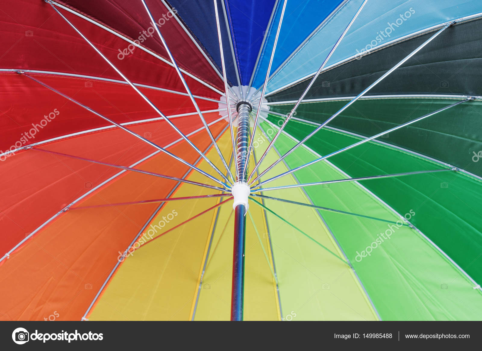 Texture of under colorful umbrella — Stock Photo © kelifamily #149985488