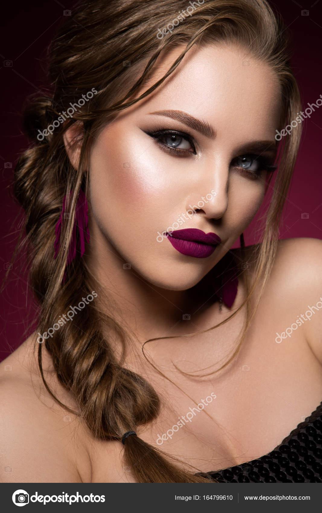 Romantic Hairstyle Stock Photo
