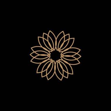 Lotus flower logo design vector illustration template