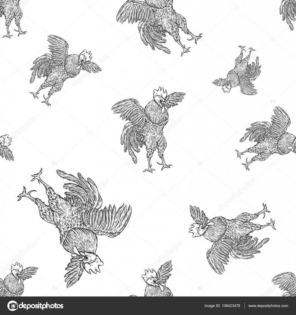 Patron de pico de pollo | Gallo. Martillo de patrones sin fisuras en ...