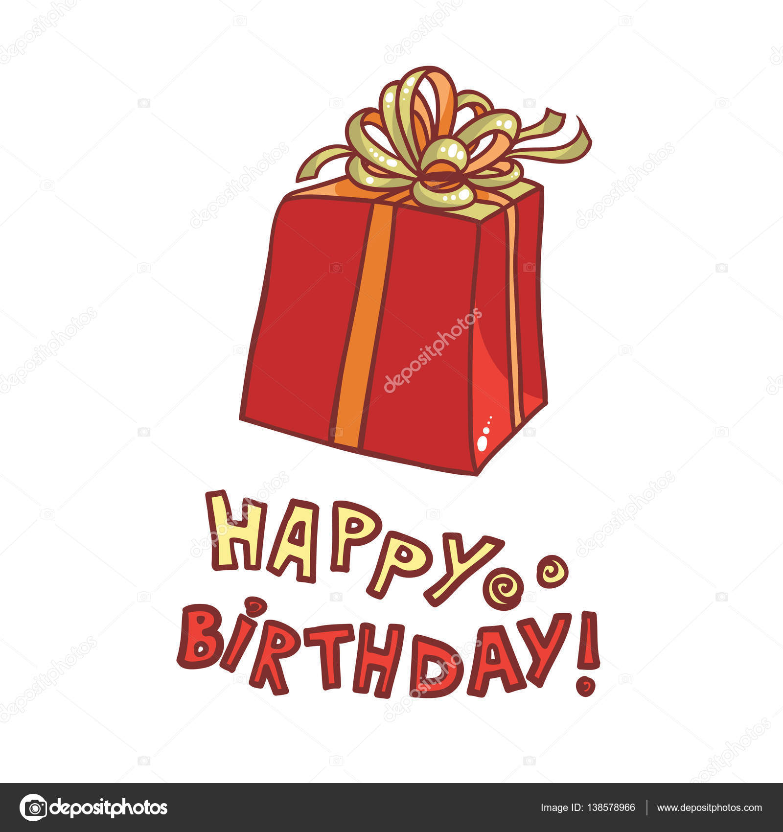Herzlichen Glückwunsch Zum Geburtstag Vektor Bild Geschenk