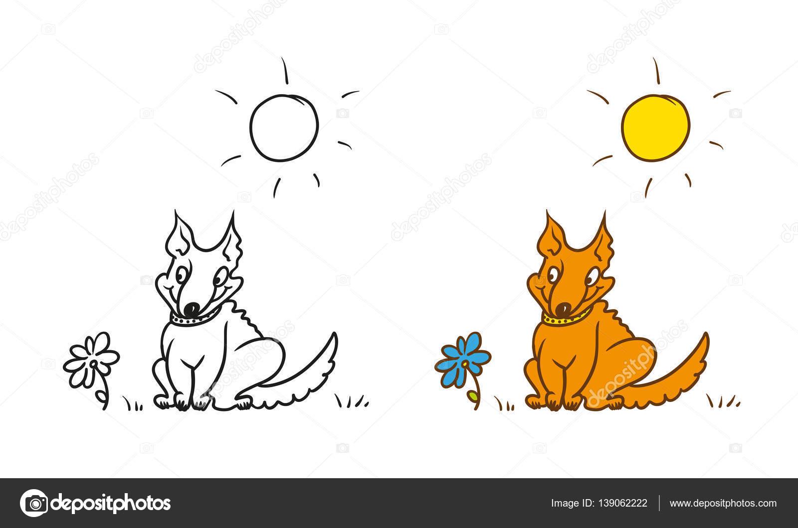 Vector para colorear personaje de caricatura humorística. Collar de ...