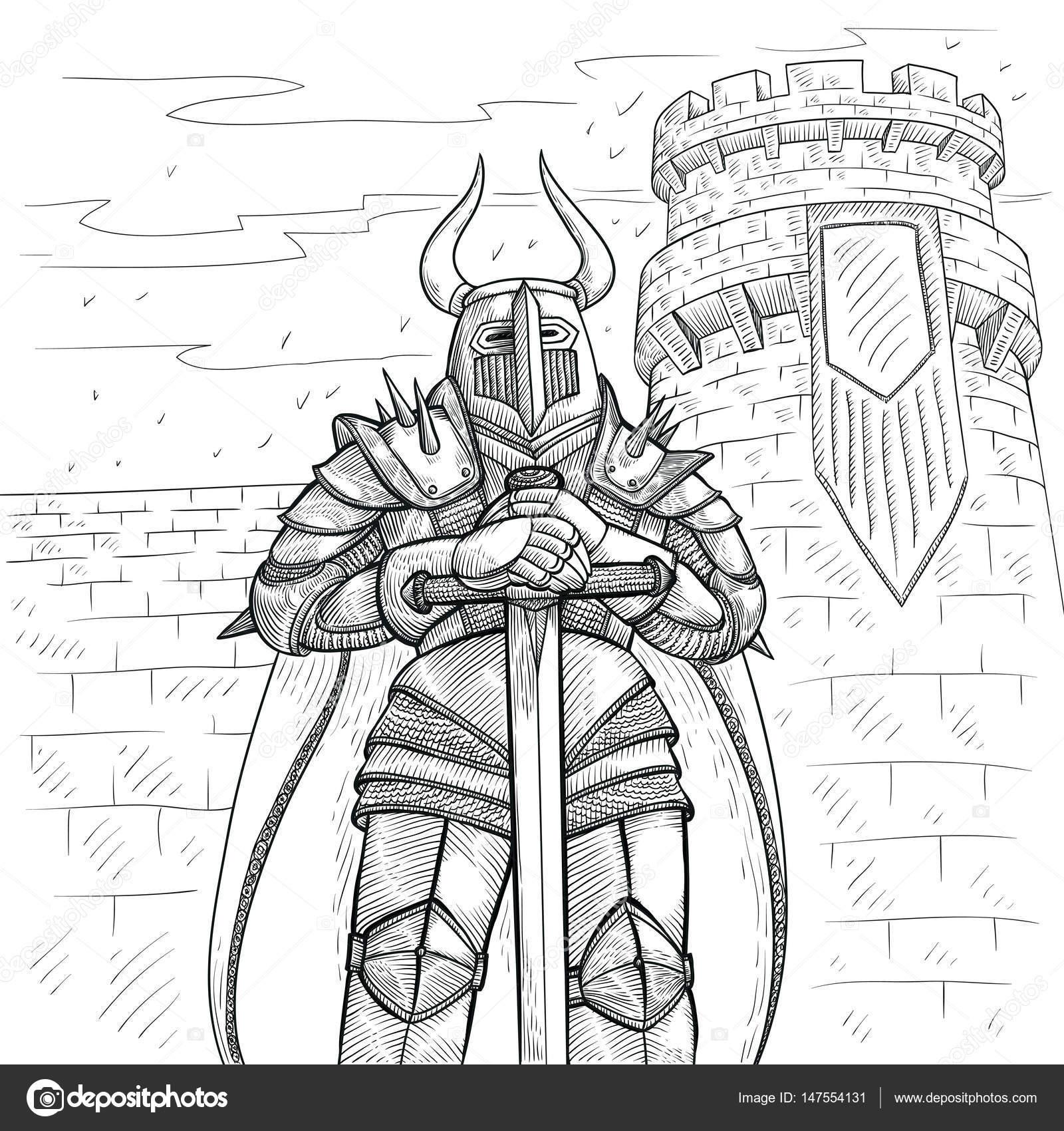 Medieval Knight Drawing Art