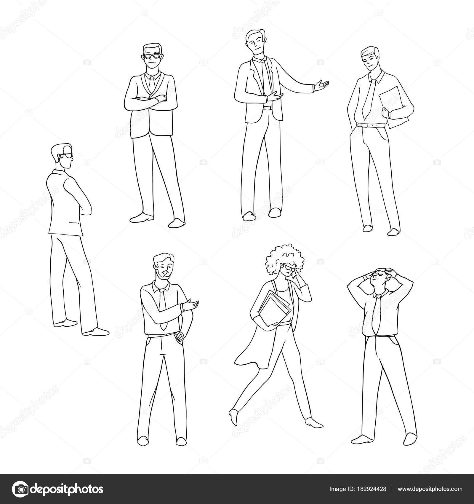Imágenes Dos Personas Hablando Por Telefono Para Colorear Vector