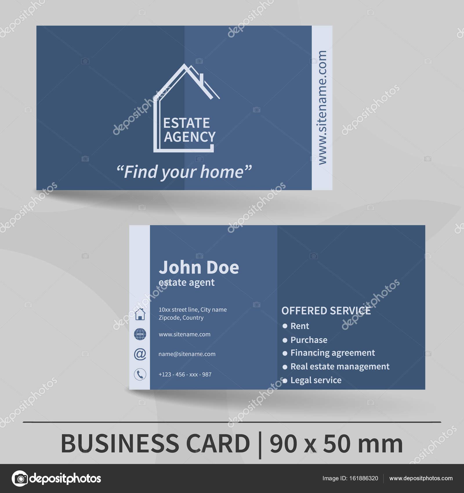 Visitenkarte Vorlage Immobilien Agentur Vektor Design