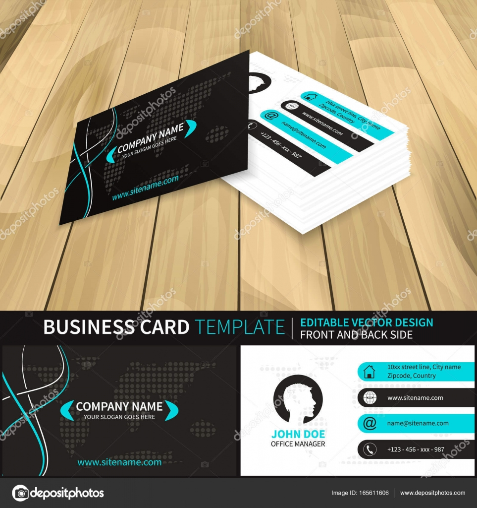 Business card vector template with world map and contact information business card vector template with world map and contact information editable design with front and back side vector by ftotti colourmoves