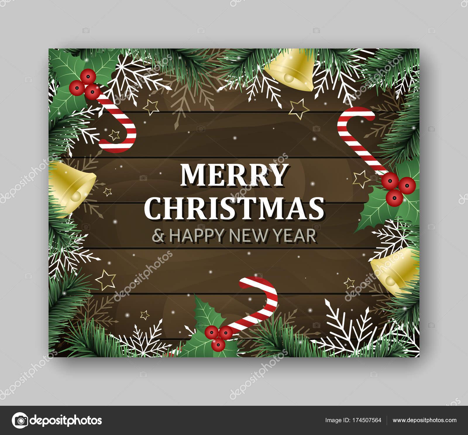 Rectángulo grande de la plantilla de banner con letras feliz Navidad ...