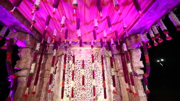 Indian Wedding Decor Stock Video Gunshe14 168319772