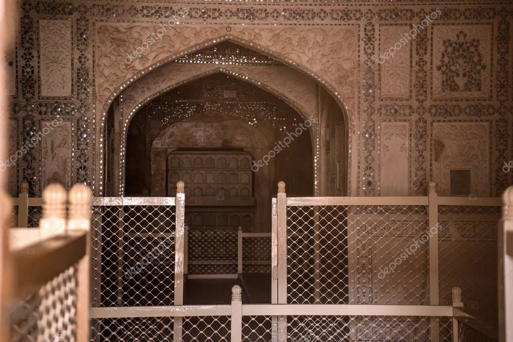 Shish Mahal in Fort of Agra
