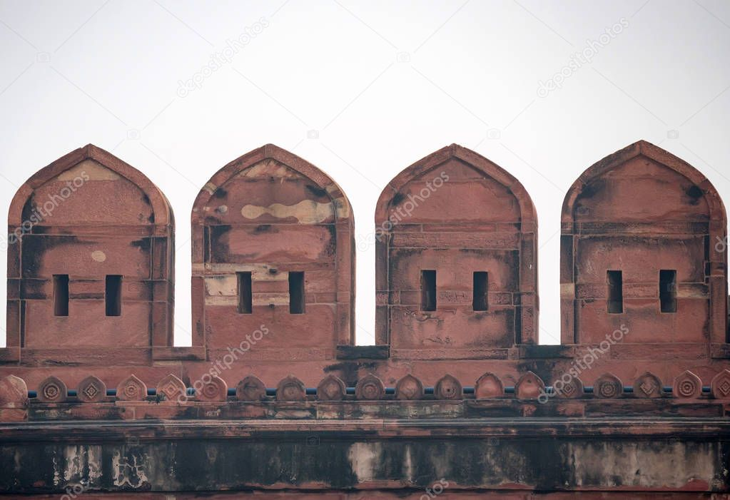 Battlement of Fort of Agra