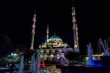 GROZNY, RUSSIA - JULY 9, 2017: Akhmad Kadyrov Mosque in Grozny, Chechnya, Russia