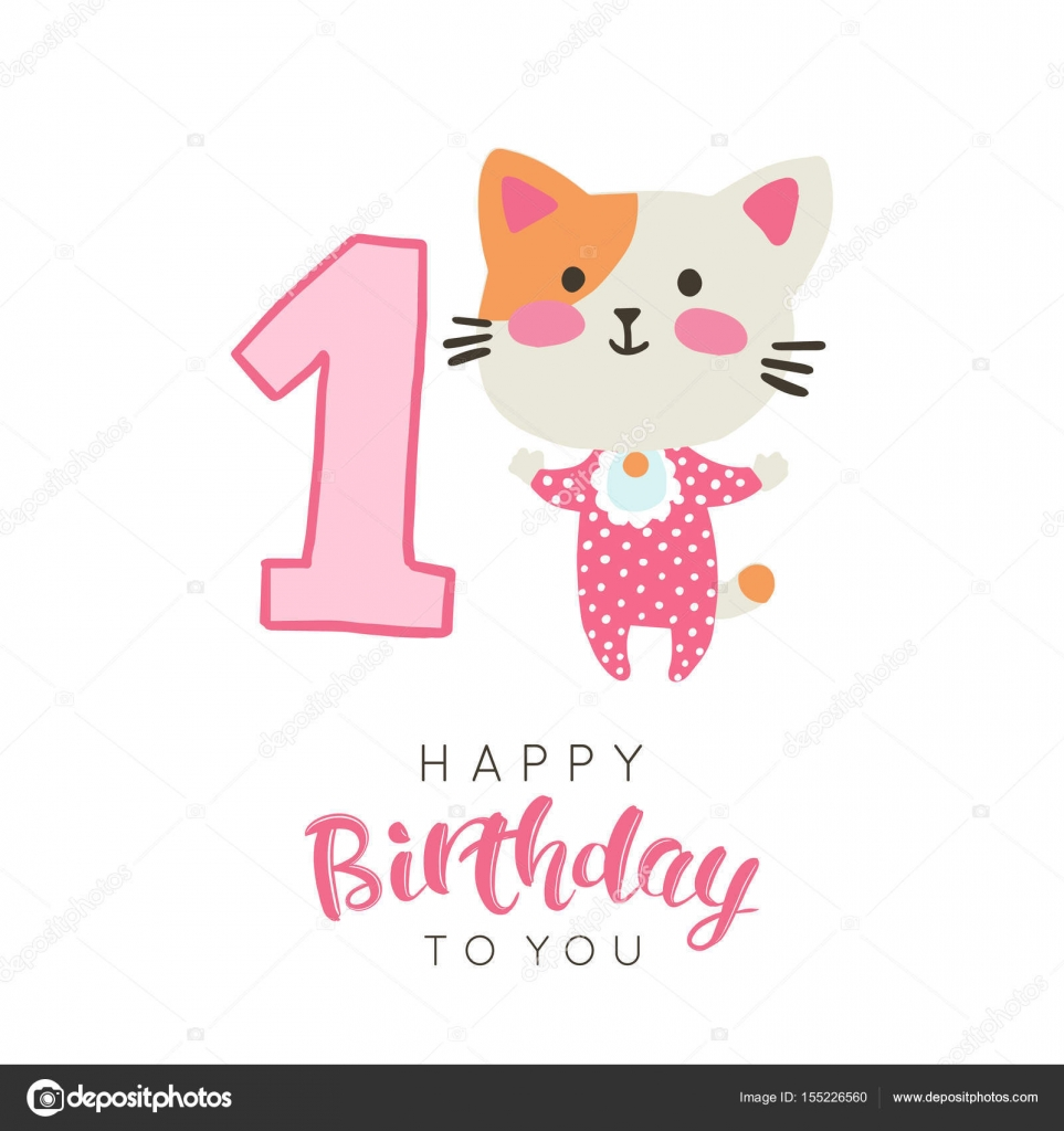 Vector Illustration Of Greeting Card With Happy Birthday To You