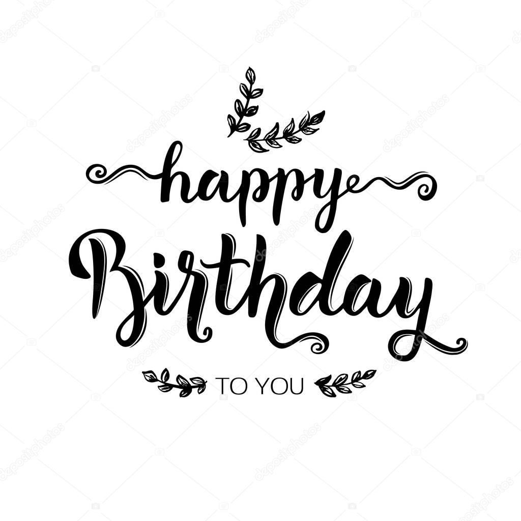 happy birthday hand lettering lettering feliz cumpleanos feliz cumplea 241 os a mano 22082 | depositphotos 159832434 stock illustration happy birthday hand lettering brush