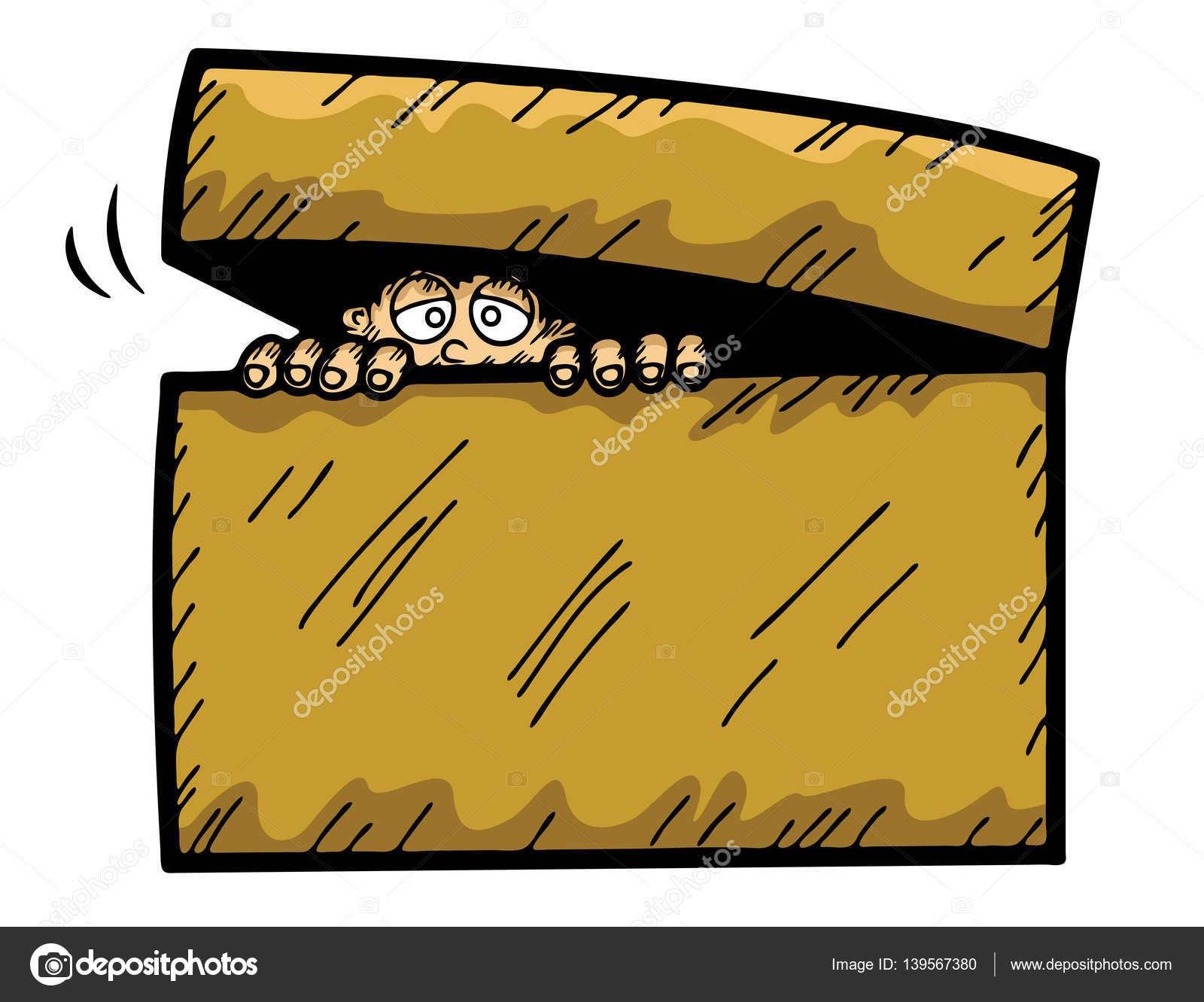Ilustración De Dibujos Animados De Niño Asustado
