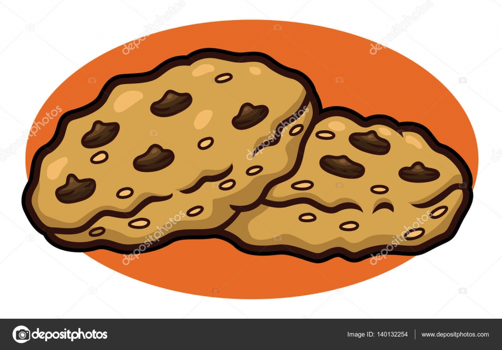 Images Of Cartoon Chocolate Chip Cookies