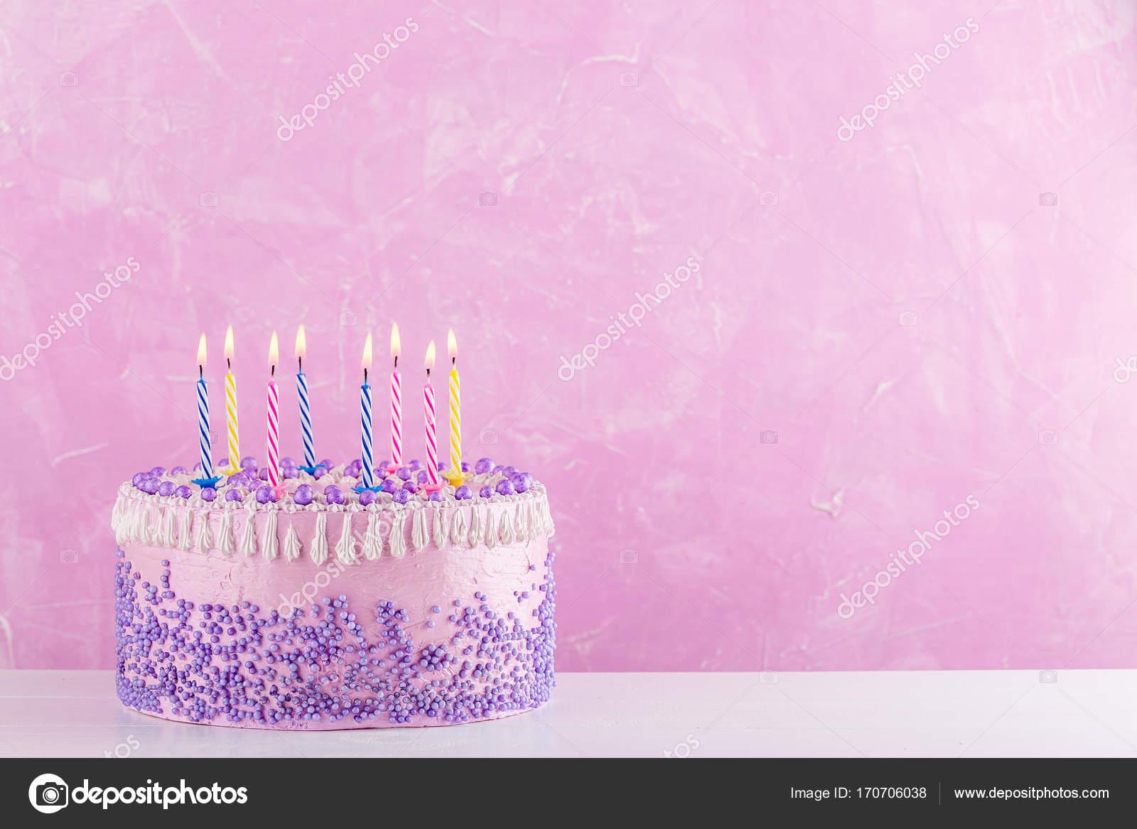 Vector Torta Cumpleaños Png Pastel De Cumpleaños Con Velas