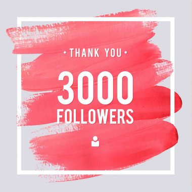 Vector thanks design template for network friends and followers. Thank you 3 followers card. Image for Social Networks. Web user celebrates large number of subscribers or followers