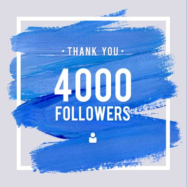 Vector thanks design template for network friends and followers. Thank you 4 K followers card. Image for Social Networks. Web user celebrates large number of subscribers or followers