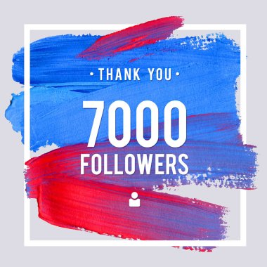 Vector thanks design template for network friends and followers. Thank you 7 K followers card. Image for Social Networks. Web user celebrates large number of subscribers or followers