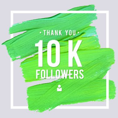 Vector thanks design template for network friends and followers. Thank you 10 K followers card. Image for Social Networks. Web user celebrates large number of subscribers or followers