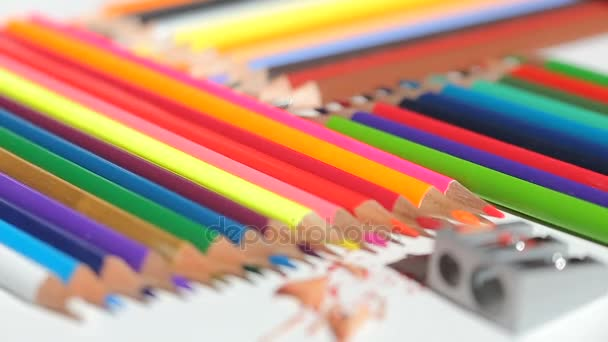 Color pencils and pencil sharpener
