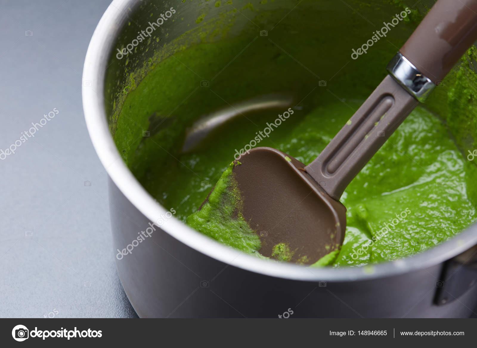 Pürierte Frische Erbsen Kochen Stockfoto Nikolodion 148946665