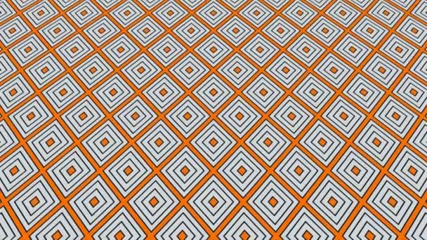 Grafikus 2d videó minta, amely megbillen, és mozog, álló minták és formák sokszínű textúrák, 4k 16: 9 formátumban