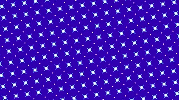 Grafický vzor, který mění barvu, jak se otáčí doleva, složený z kreseb a tvarů s barevnými texturami, ve formátu 16: 9 video.