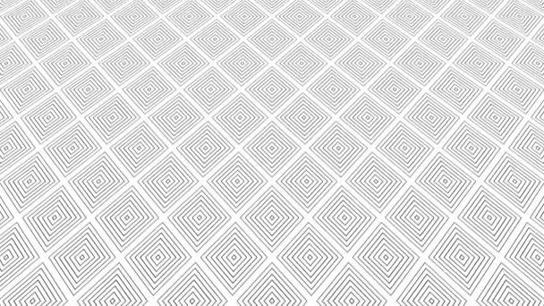 Grafikus minta fekete-fehér, hogy dönthető fel, és mozog, álló geometriai formák 16: 9 formátumban