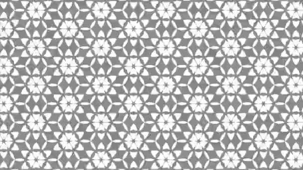 Grafikus minta fekete-fehér, sztroboszkópos és hipnotikus hatású, miközben növekszik a mérete, majd csökkenti azt, 16: 9 videó formátumban