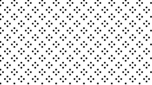 Grafikmotiv in Schwarz-Weiß, das sich im Hintergrund bewegt und die Größe vergrößert, bestehend aus Zeichnungen und farbigen Formen.