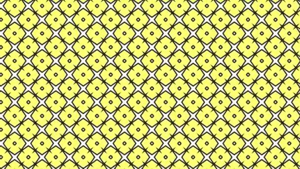 Grafický vzor, který se pohybuje v pozadí zvětšení velikosti, složený z kreseb a barevných tvarů.