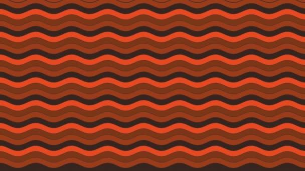 2d grafický obrazec s horizontálním vlnovým efektem, který se pohybuje vlevo, složený z návrhů a tvarů s mnohobarevnými texturami, ve formátu 4k 16: 9.