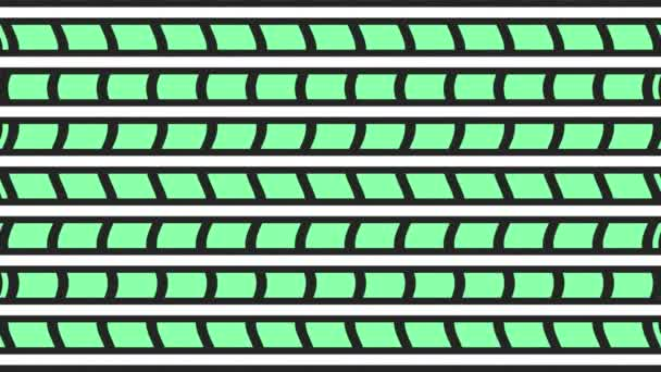 A 2d grafikus videó minta függőleges hullám hatása, hogy mozog lefelé, álló minták és formák sokszínű textúrák, 4k 16: 9 formátumban.