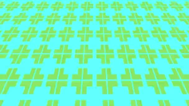 Barevný grafický vzor na pozadí s psychedelickým a hypnotickým efektem, který se pohybuje po nakloněné rovině a pohybuje se vzhůru, ve formátu 16: 9 video