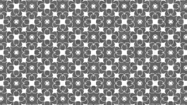 Graphic pattern in black and white with stroboscopic and hypnotic effect, while increasing in size and then reducing it, in 16: 9 video format